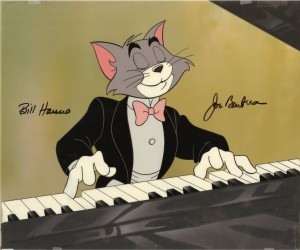 Não é este Tom formal. Imagem por iCollector http://www.icollector.com/Tom-and-Jerry-The-Cat-Concerto-original-hand-painted-publicity-cel-set-up_i11538122