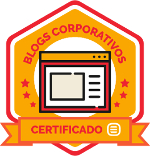 Selo do Certificado Blogs Corporativos Universidade Rock Content