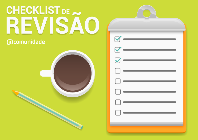 Kit - Checklist interativa de revisão + Ebook
