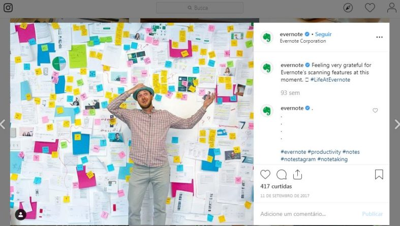 Exemplo de Copywriting - Evernote